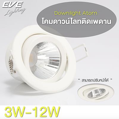 LED Downlight Atom 3, 6, 9, 12W Coolwhite