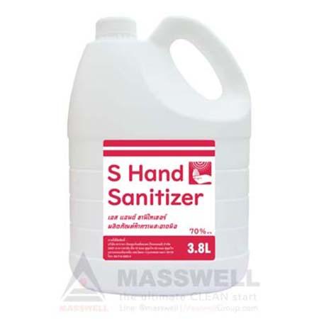 แอลกอฮอล์ฆ่าเชื้อ S-hand Sanitizer70% vv 3.8 ลิตร