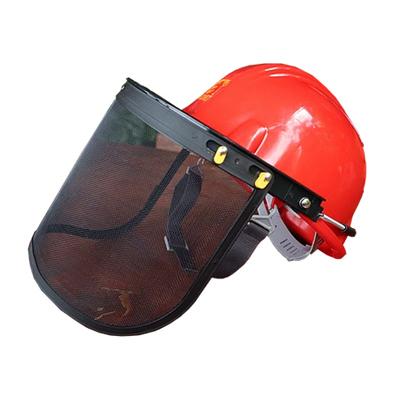 หมวกเซฟตี้+หน้ากากกันสะเก็ดตาข่าย รุ่น KH-15014